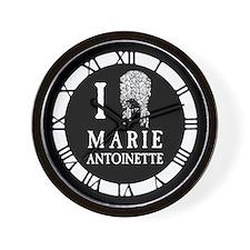 I Love (Wig) Marie Antoinette Wall Clock