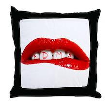 MDMA Lips Throw Pillow