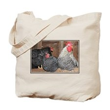 chickens on a roost Tote Bag
