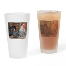 chickens on a roost Drinking Glass
