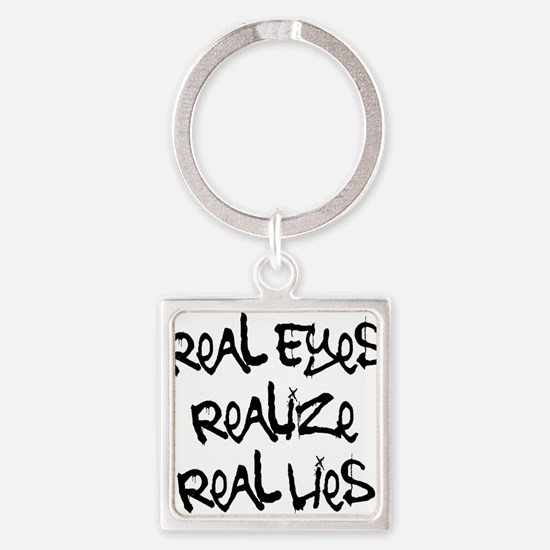 Real Eyes Square Keychain