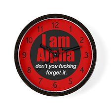 alpha-i-am_cl.png Wall Clock