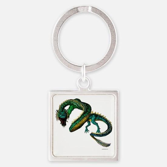 The Jade Dragon Square Keychain