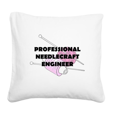 proneedlecraft.png Square Canvas Pillow