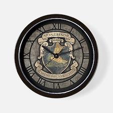 Montresor Coat Of Arms Wall Clock