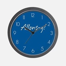 French Allons-y Wall Clock