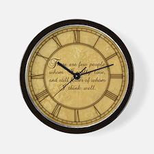 Few Whom I Love Wall Clock