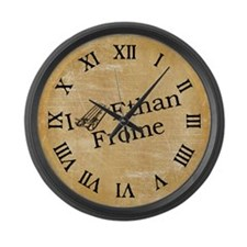 I (Sled) Ethan Frome Large Wall Clock