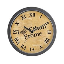 I (Sled) Ethan Frome Wall Clock