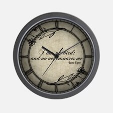 No Net Ensnares Me Wall Clock