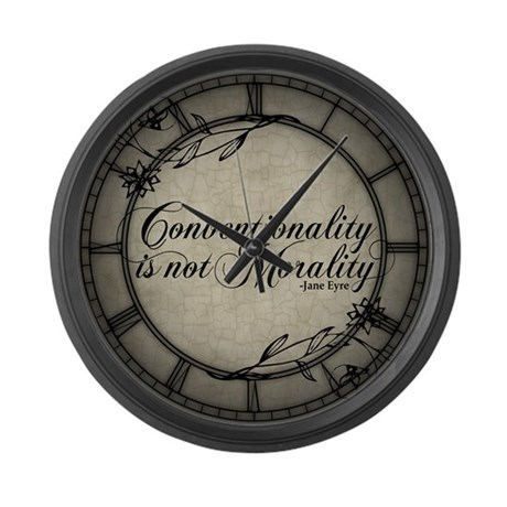 Conventionality Is Not Morality Large Wall Clock