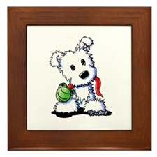 Muggles Westie Puppy Framed Tile