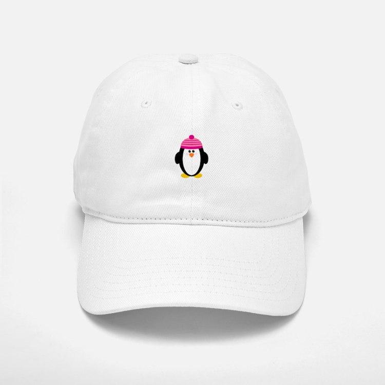 Pink Hat Penguin Baseball Baseball Cap