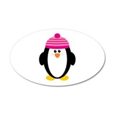Pink Hat Penguin Wall Decal