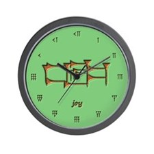 joy/green Wall Clock