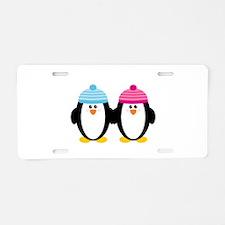 A Couple of Cute Penguins Aluminum License Plate