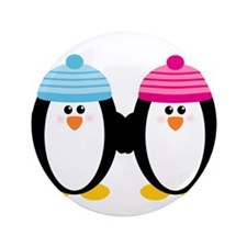 "A Couple of Cute Penguins 3.5"" Button (100 pack)"