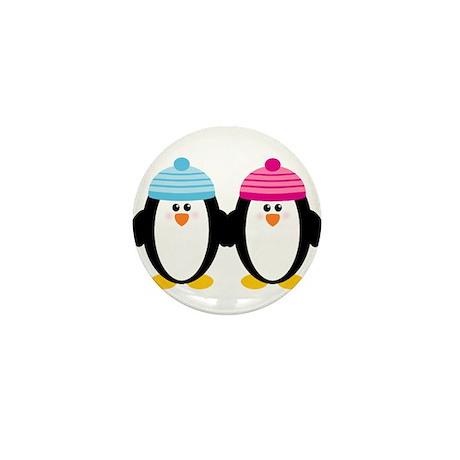 A Couple of Cute Penguins Mini Button (10 pack)