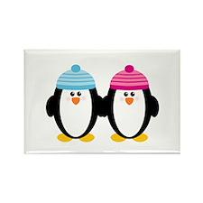A Couple of Cute Penguins Rectangle Magnet (100 pa