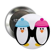 "A Couple of Cute Penguins 2.25"" Button (100 pack)"