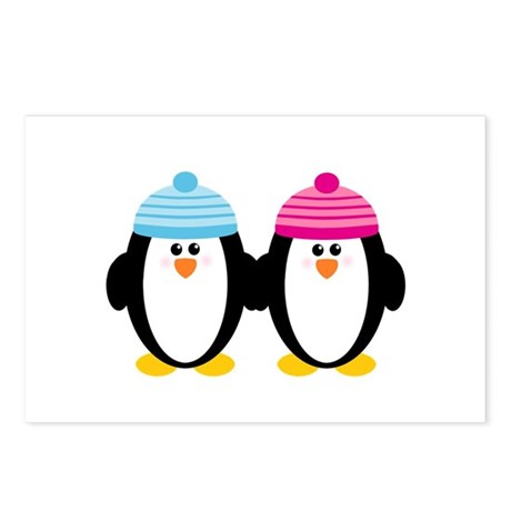 A Couple of Cute Penguins Postcards (Package of 8)