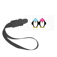 A Couple of Cute Penguins Luggage Tag