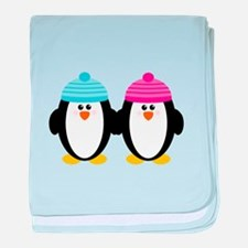 A Couple of Cute Penguins baby blanket