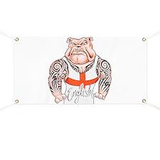 English Bulldog with Tribal Tattoos Banner