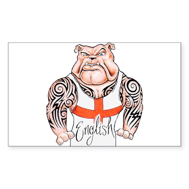 english bulldog with tribal tattoos decal by cypresshills. Black Bedroom Furniture Sets. Home Design Ideas
