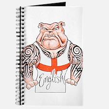 English Bulldog with Tribal Tattoos Journal