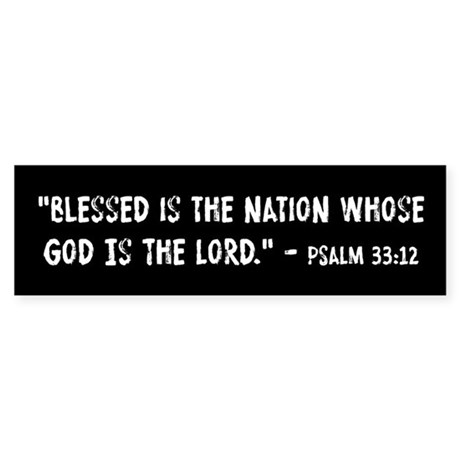 Blessed Is The Nation Psalm 33:12 Sticker (Bumper)