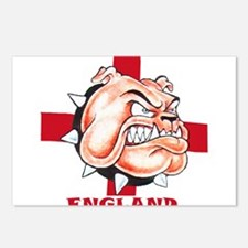 English Bulldog With St Georges Cross Postcards (P
