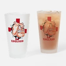 English Bulldog With St Georges Cross Drinking Gla