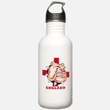 English Bulldog With St Georges Cross Water Bottle