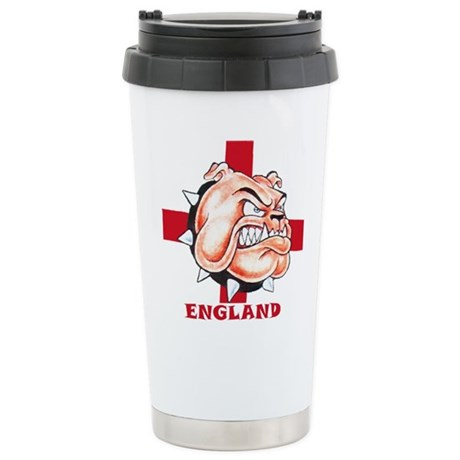 English Bulldog With St Georges Cross Stainless St
