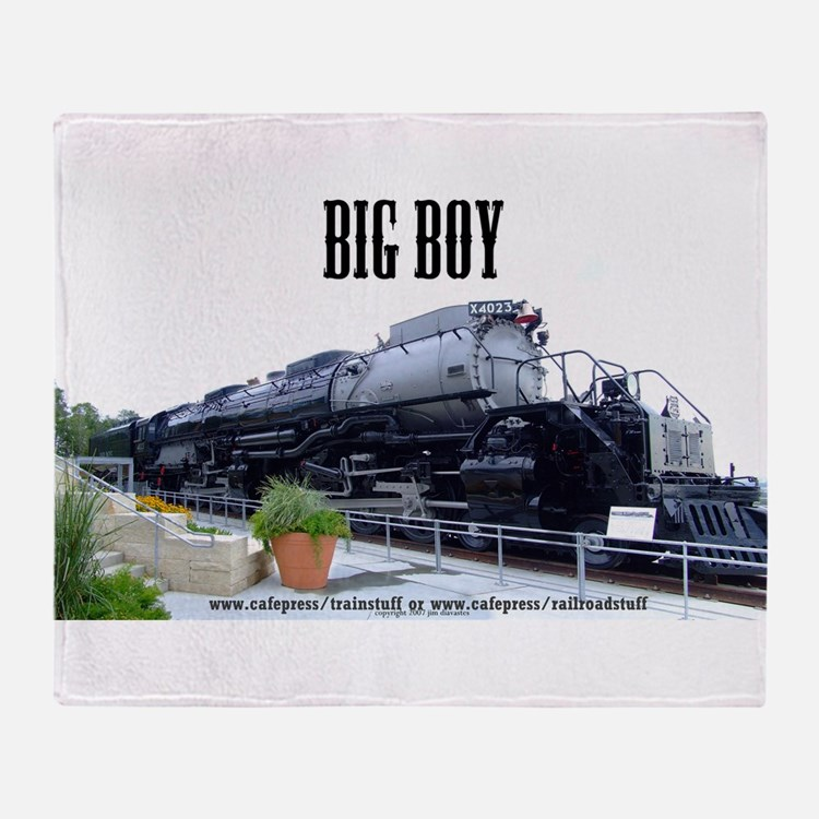 Big Boy Steam Engine Throw Blanket