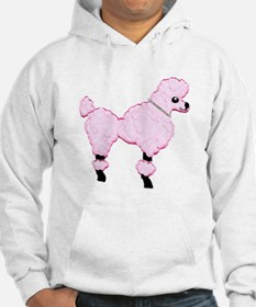 Pink Poodle with Jeweled Collar Hoodie