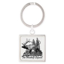 Dad the legend 3 Square Keychain