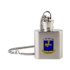 1st BN 502nd INF Flask Necklace
