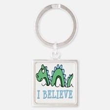 I Believe in Sea Monsters Square Keychain