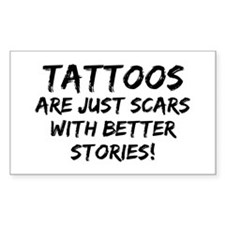 Tattoos Scars Stories Rectangle Decal