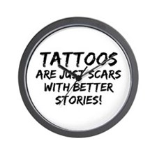 Tattoos Scars Stories Wall Clock