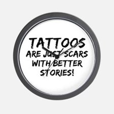 Tattoos Scars Stories Wall Clock