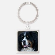 Bernese mountain dog Square Keychain