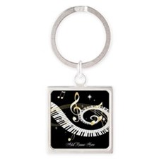 Personalized Piano Musical gi Square Keychain