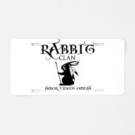 Rabbit Clan Aluminum License Plate