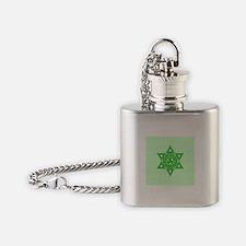 Celtic Star of David Flask Necklace