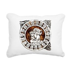 mayan circle Rectangular Canvas Pillow