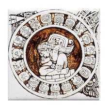 mayan circle Tile Coaster