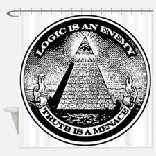 LOGIC IS AN ENEMY / TRUTH IS A MENACE Shower Curta